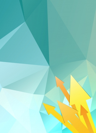 striking: Blank abstract polygon background with yellow arrows   abstract polygon background with arrows
