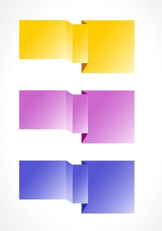 Set of three glossy blank geometric templates ready for your text   geometric blank templates Stock Vector - 18547118