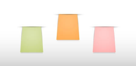 chit: Set of three blank labels ready for your text   blank tags