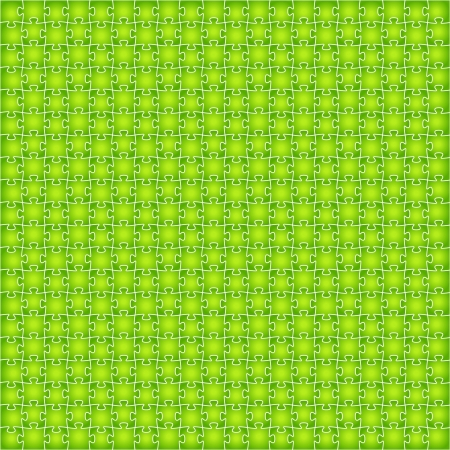 Abstract background made out of green puzzle pieces Stock Vector - 18821816