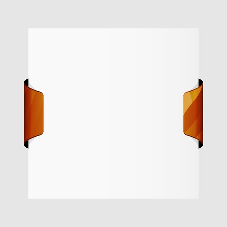 Piece of paper with two wooden clips   paper with two clips Vector