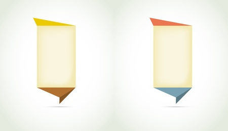 Blank template with origami style arrows, ready for your text   abstract rectangle template Vector