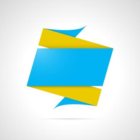 抽象的なブルーとイエローの折り紙スタイル背景のトレンディな折り紙  イラスト・ベクター素材