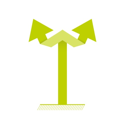 Simple graphic element made out of two connected arrows   double arrow Vector