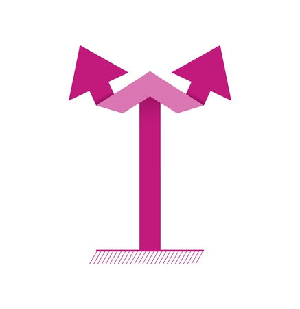 Simple graphic element made out of two connected arrows   vertical double arrow Vector