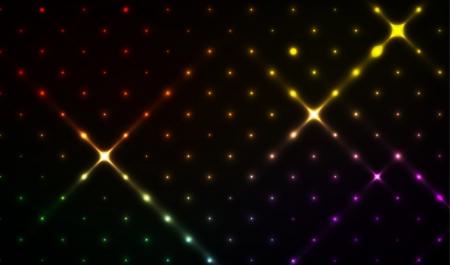 De abstracte disco achtergrond met verschillende kleuren sterren discoachtergrond
