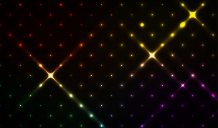 The abstract disco background with various colors stars   disco background