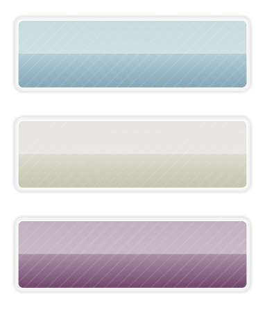 The set of blue, grey and dark purple blank button   serious button set Ilustracja