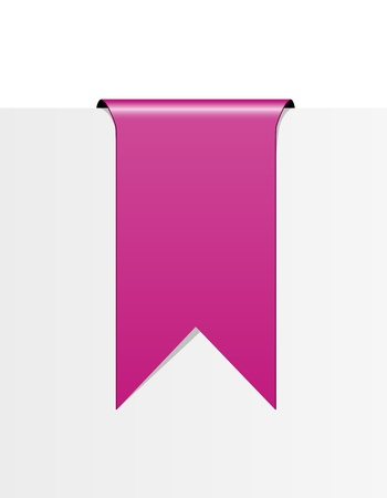 pink ribbons: The blank pink label in the shape of ribbon   pink ribbon