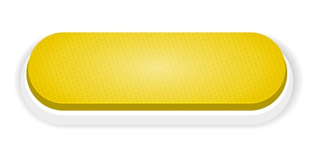 The blank yellow button with subtle pattern   The yellow push button Vector
