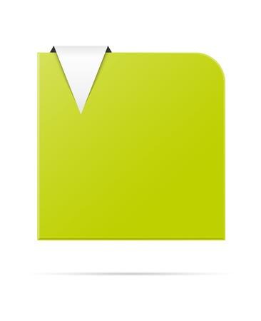 De lege groene ronde hoek sjabloon met de pijl klaar voor uw tekst De ronde hoek template Stock Illustratie