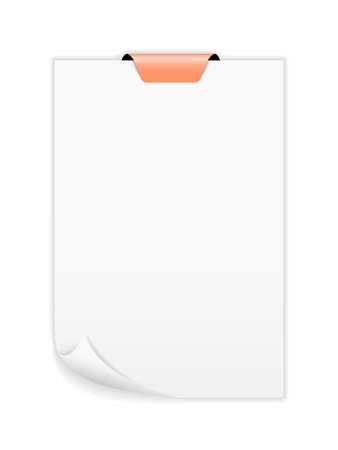The note paper with blank orange tag   The note paper Vector