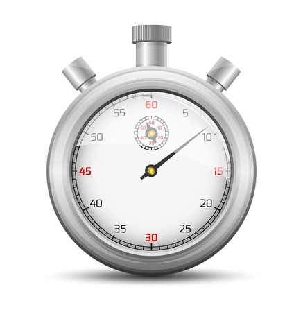 The isolated stopwatch graphic element with shadow   The stopwatch Vector