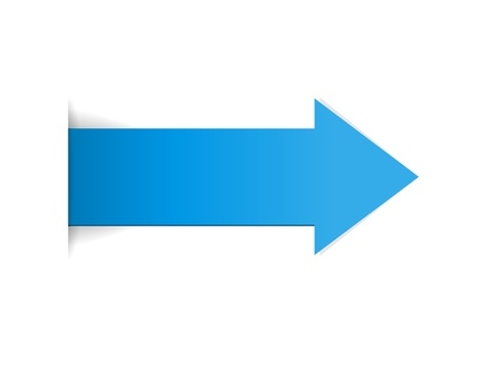 The blue arrow with hidden edge effect   The blue arrow