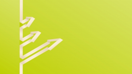 The blank green background with three arrows   The green background with three arrows Vector