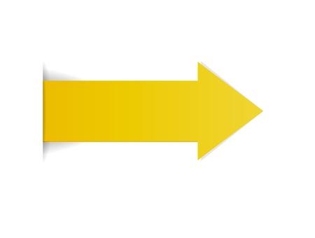 De gele pijl met verborgen randeffect De gele pijl