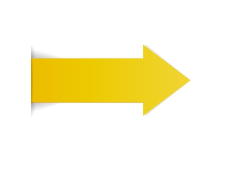 The yellow arrow with hidden edge effect   The yellow arrow Ilustrace