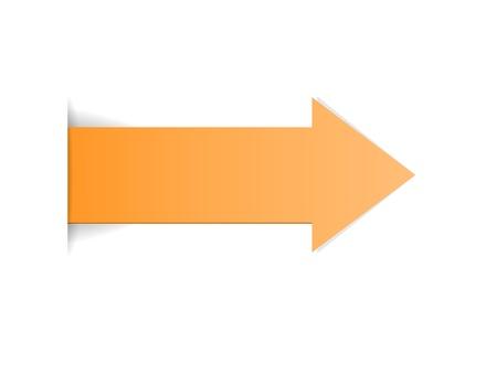 De gele pijl met verborgen randeffect De oranje pijl De pijl