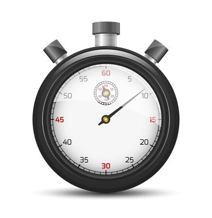 cronometro: El elemento gráfico cronómetro aislado con la sombra El cronómetro negro El cronómetro