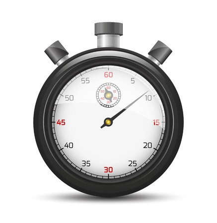 interval: The isolated stopwatch graphic element with shadow   The black stopwatch   The stopwatch Illustration