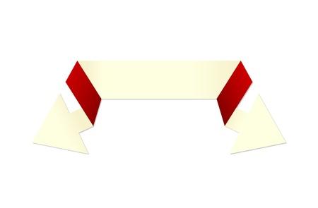 fl�che double: L'ivoire et rouge moderne style origami double fl�che L'ivoire double fl�che La belle fl�che