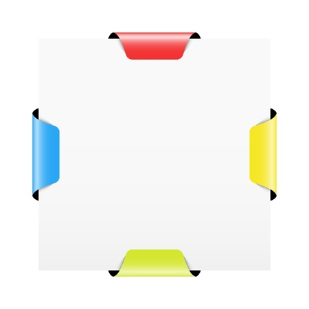 the blank template with red yellow green and blue blank tag