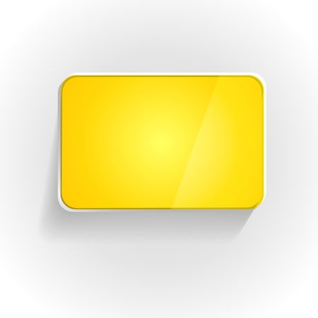 The blank yellow rectangle button with round corners   The glossy button   The button