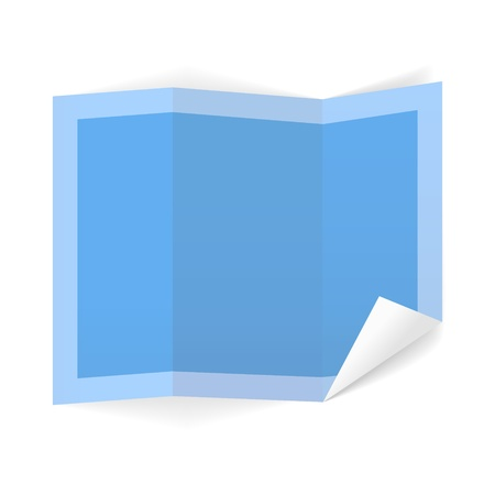 The blank blue list of paper with folded corner   The list of paper   The paper Vector