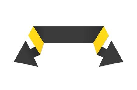 fl�che double: Le style moderne de l'origami double fl�che noire et jaune La double fl�che noire La fl�che Illustration