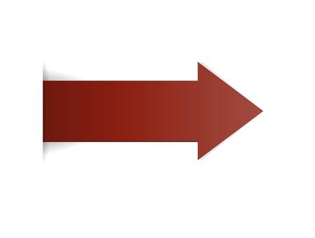 claret red: La flecha roja claret con efecto de borde oculto Vectores