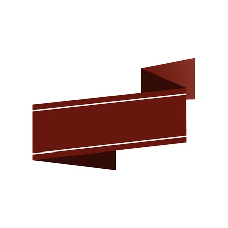 claret: The pure geometric blank claret ribbon ready for your text