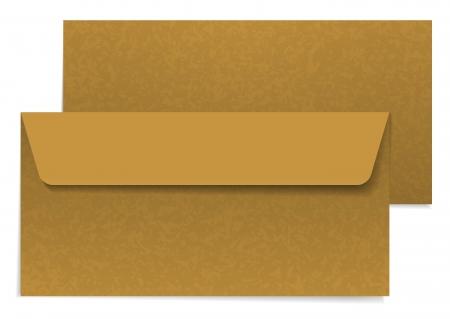 The illustration of two brown paper envelopes Illustration