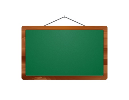 cling: The blank hanging school board with wooden frame