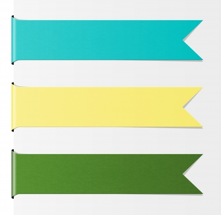 yellow ribbon: The set of blue, yellow and green blank ribbons with subtle pattern