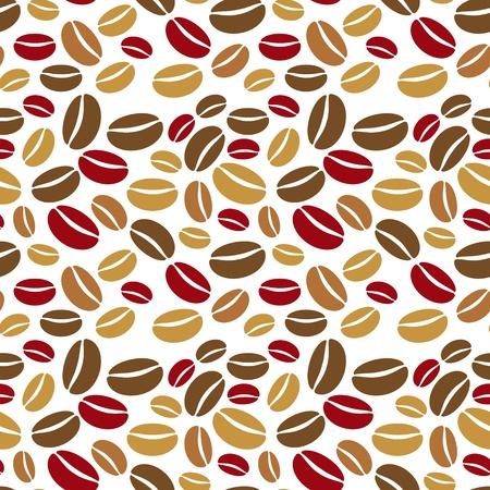 De naadloze patroon gemaakt van verschillende koffiebonen