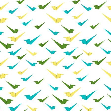 accepter: Le mod�le sans couture faite du style origami accepter signes