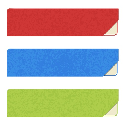 The set of three blank buttons Illustration