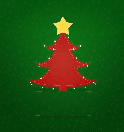christmas motif: Christmas greeting card with xmas tree motif