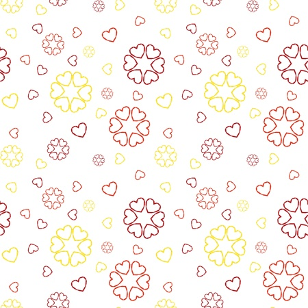 felicity: The seamless pattern made out of various color origami style hearts