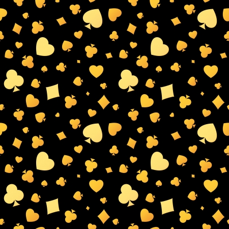 De naadloze patroon gemaakt van speelkaarten symbolen Stock Illustratie