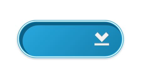 The blank blue button with download symbol Ilustrace
