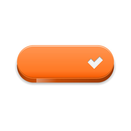 accept: The orange button with white accept symbol  The orange accept button  The tick button