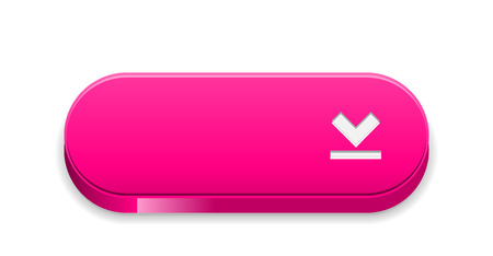 The blank pink button with download symbol Vector