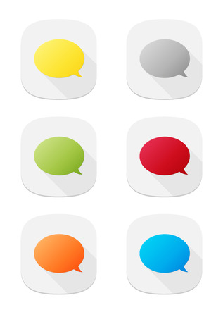 The set of various colors speech bubble icons Vector