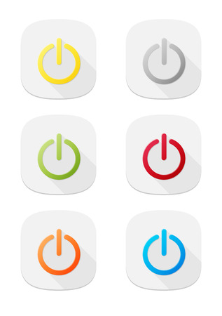 The set of nine switch icons Vector