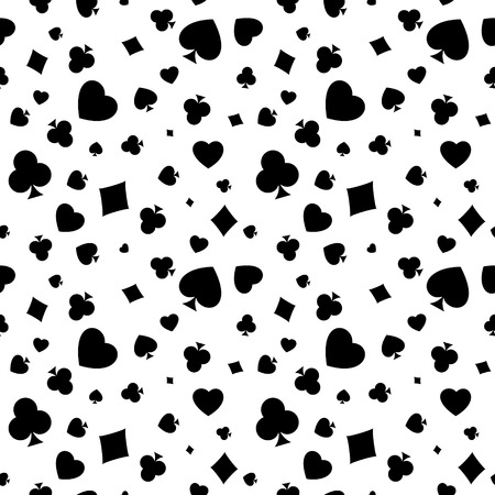 The seamless pattern made out of casino symbols Vector