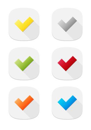 accepter: L'ensemble des six accepter boutons d'ic�ne