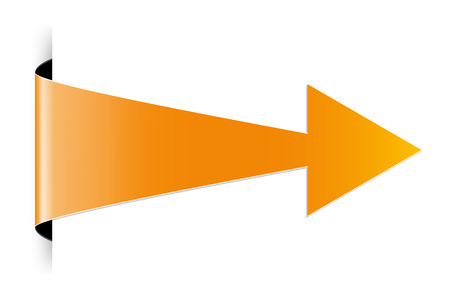 The orange arrow with hidden edge effect