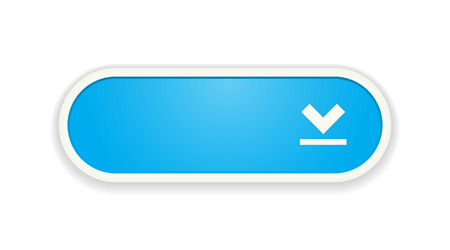 download: The download blue button with white frame