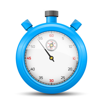 The light blue stopwatch illustration